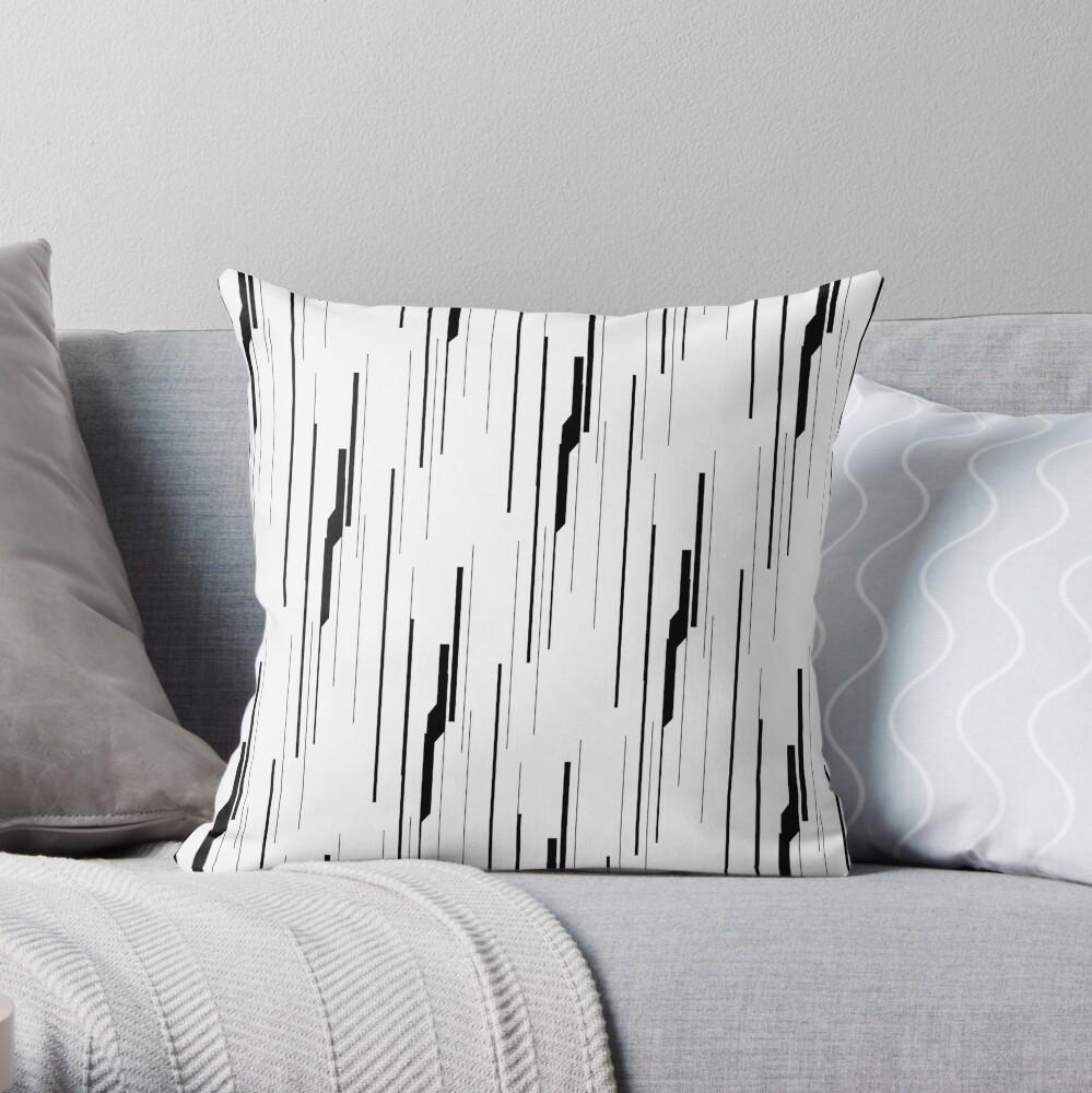 White Static Throw Pillow