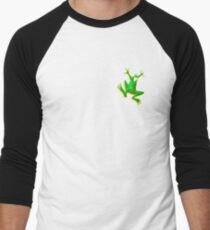 FROG, GREEN FROG, Cartoon, Jumping Jehoshaphat! Help! its the Green frog! Pond life Men's Baseball ¾ T-Shirt