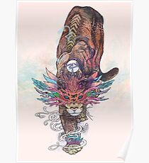Journeying Spirit (Mountain Lion) Poster