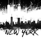 Graphic Art NYC Skyline Splashes | black by Melanie Viola