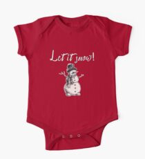 Let it Snow with Snowman One Piece - Short Sleeve