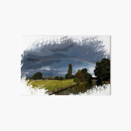 Rainbow over Napton Turn  Art Board Print