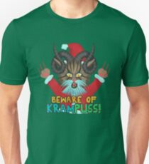 Funny Christmas Cat Krampuss Pun Holiday Humor T-Shirt