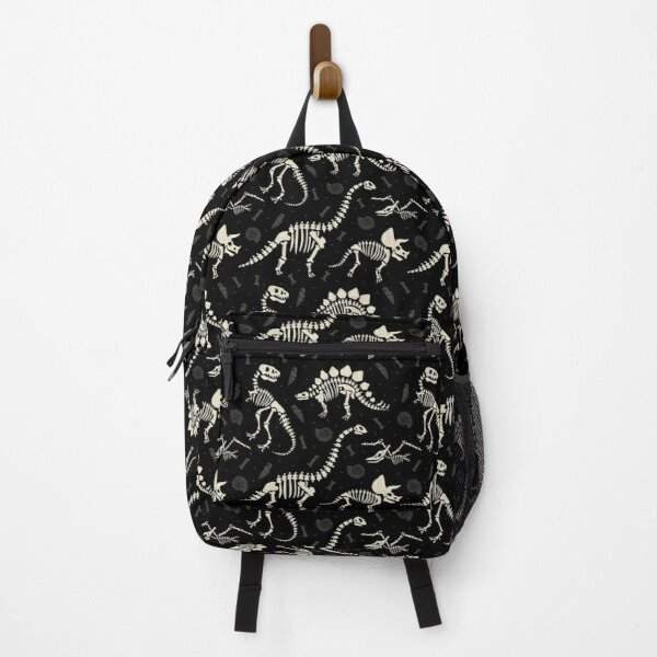 Dinosaur Fossils in Black Backpack