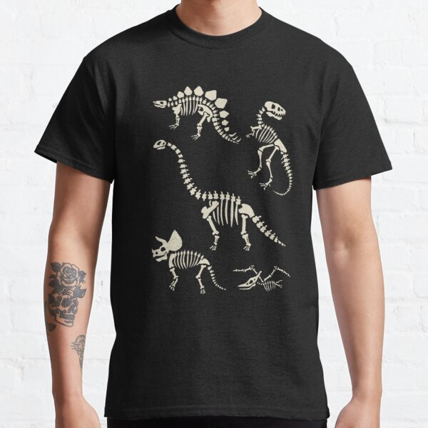 Dinosaur Fossils in Black Classic T-Shirt