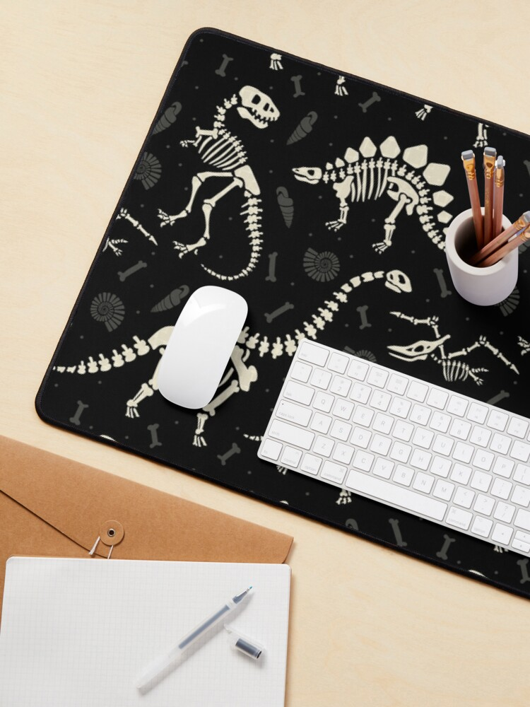 Alternate view of Dinosaur Fossils in Black Mouse Pad