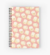 Marshmallow Pattern - Pink Spiral Notebook