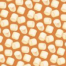 Marshmallow Pattern - Chocolate by Kelly  Gilleran