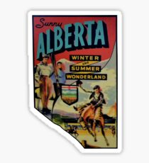 Alberta AB Canada Vintage Travel Decal Sticker