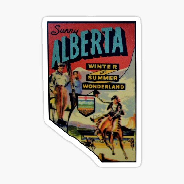 Alberta AB Canada Vintage Travel Decal Sticker