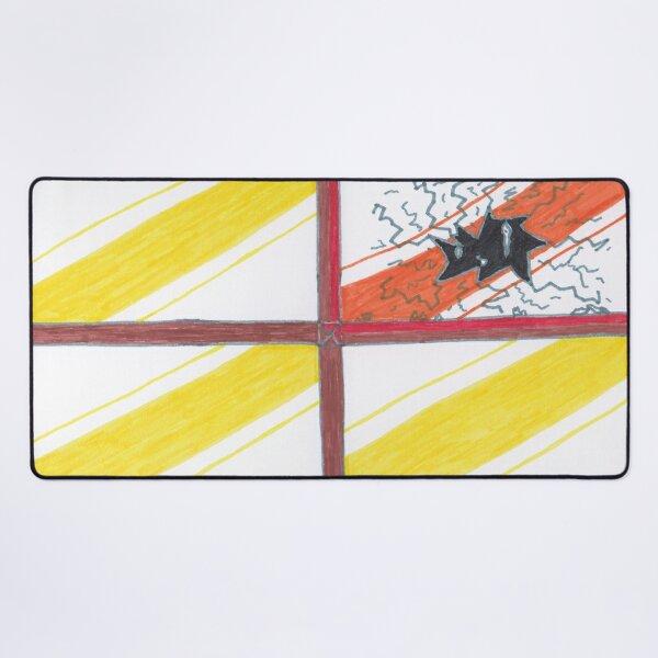 M.I. #20  ☽  Wrecked Window - Pane Pain Desk Mat