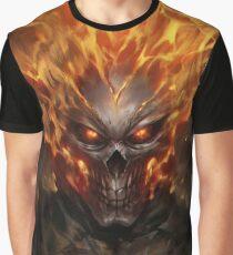 Camiseta gráfica Esqueleto fantasma