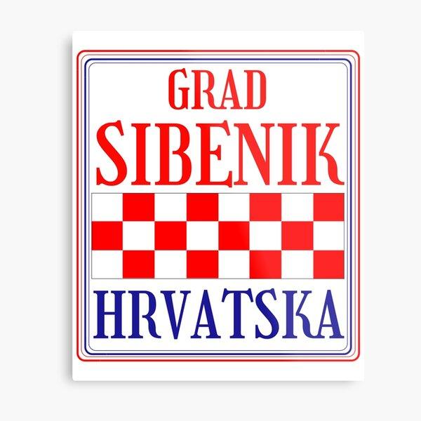 Croatian City of Sibenik Metal Print