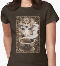 Corgi Coffee Fitted T-Shirt
