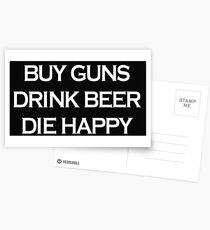 Buy Guns Drink Beer  Postcards