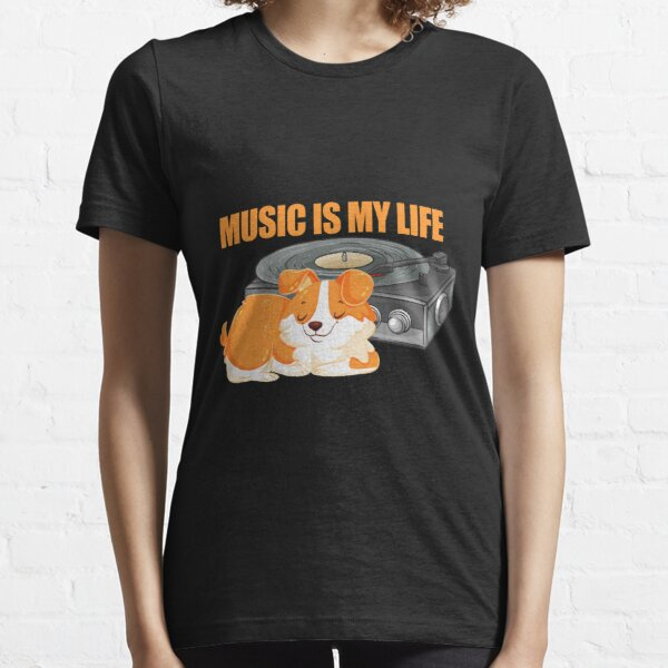 Music With Animals Edit View Essential T-Shirt