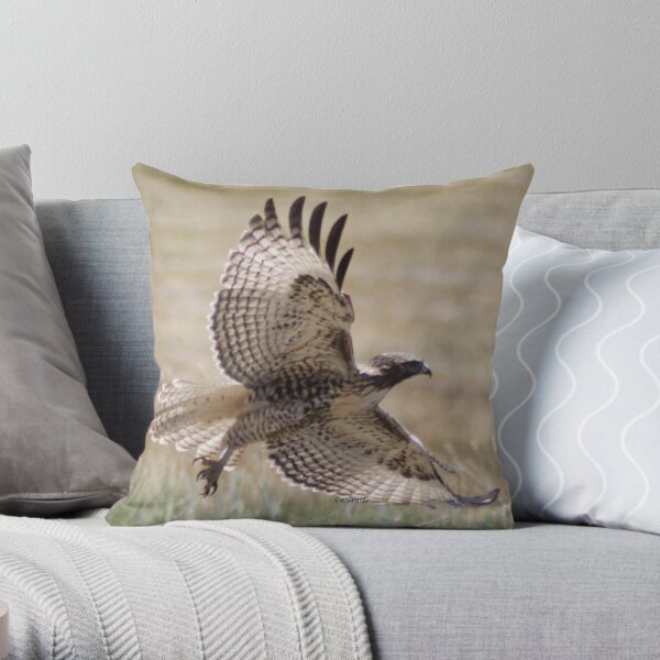 Wild Oregon Hawk  Throw Pillow