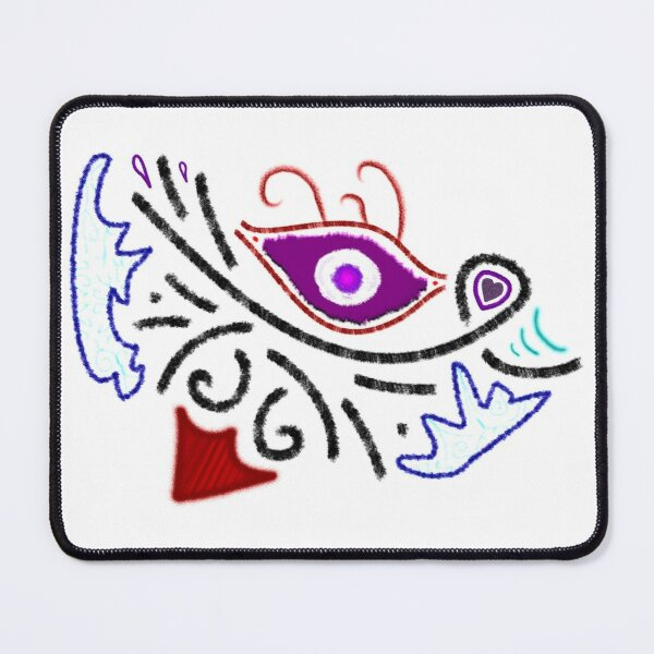 M.I. #1  ☼  Rustic Tribal Cyclops Insignia Mouse Pad