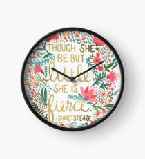 Little & Fierce Clock