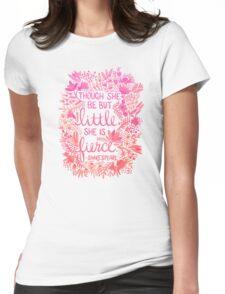 Little & Fierce – Pink Ombré Womens Fitted T-Shirt
