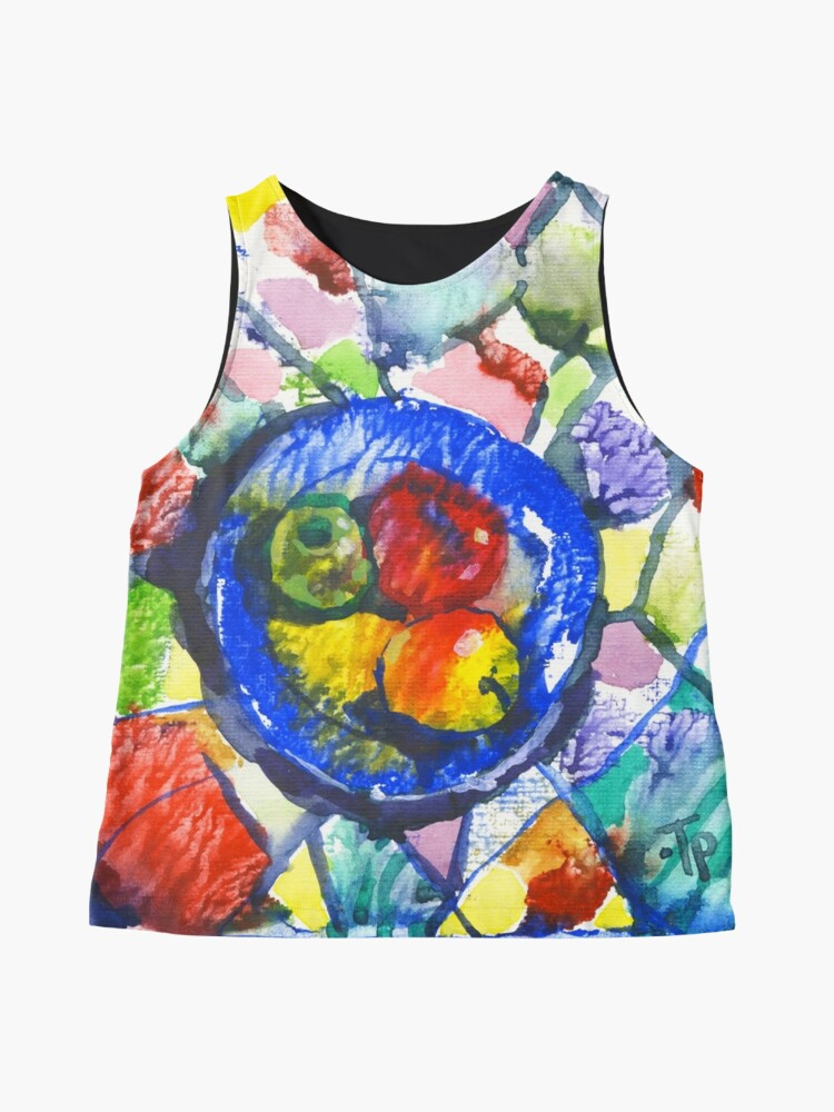 Alternate view of Apples. Watercolor. Sleeveless Top