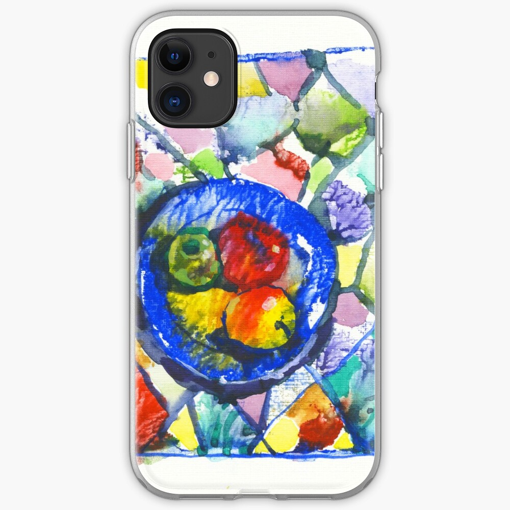 Apples. Watercolor. iPhone Soft Case