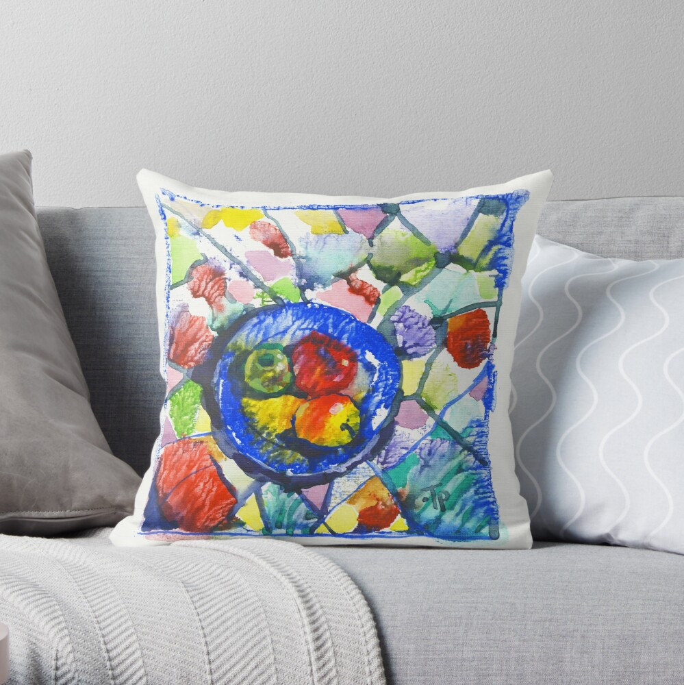 Apples. Watercolor. Throw Pillow