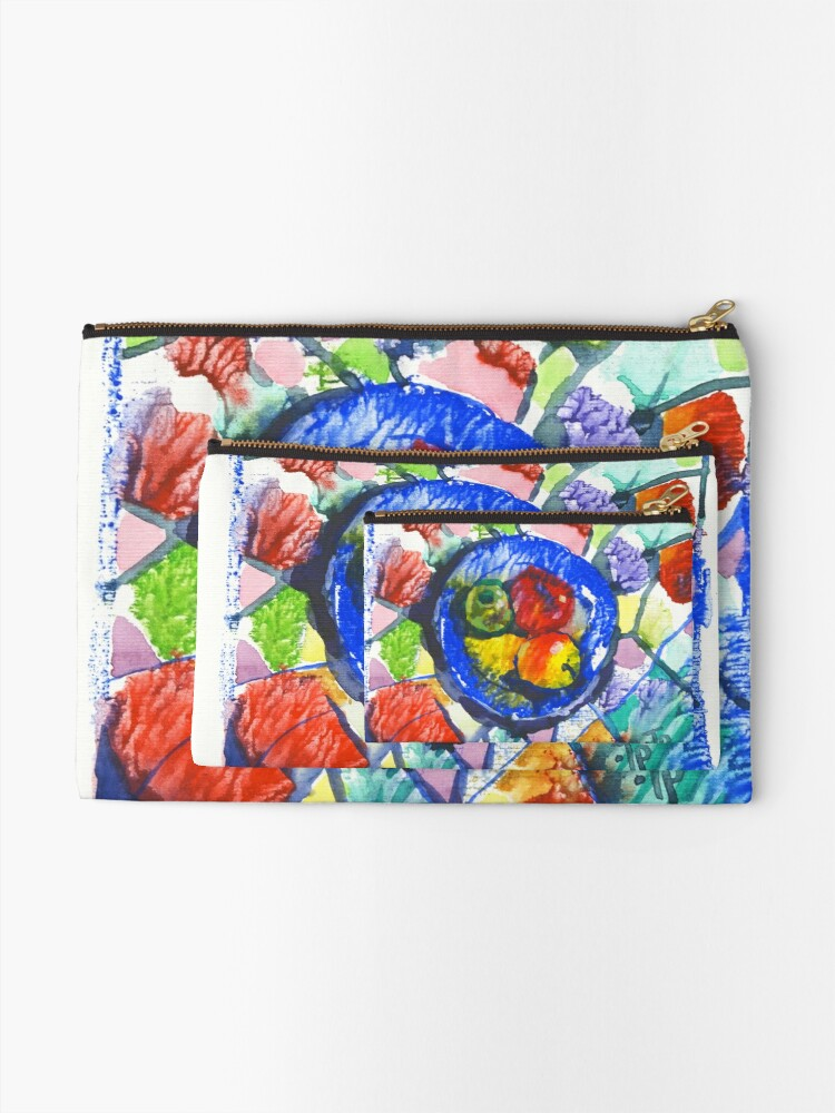 Alternate view of Apples. Watercolor. Zipper Pouch