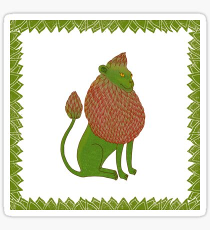 Asparagus Lion, King of the Vegetables Sticker