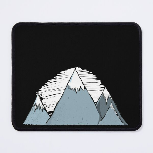 Mountains in winter and the peaks with snow Mouse Pad