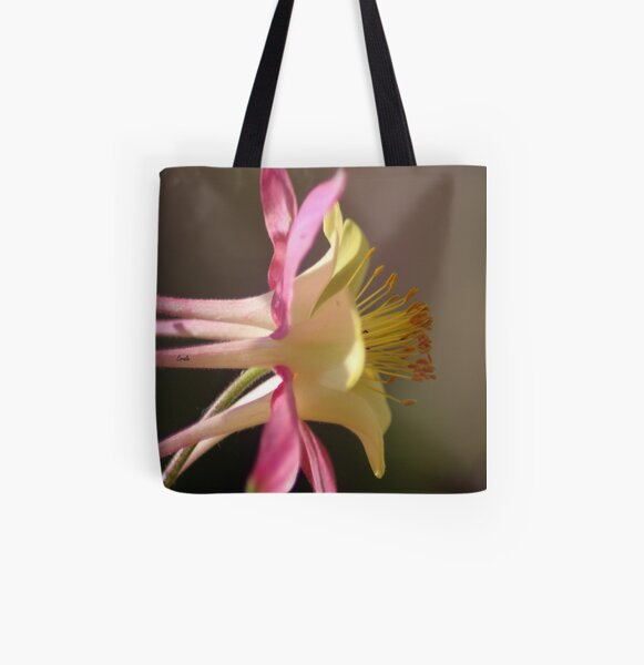 Classic Columbine Flower Bloom All Over Print Tote Bag