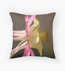 Classic Columbine Flower Bloom Throw Pillow