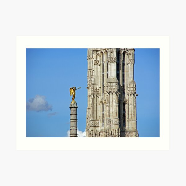 The Victory Column and Saint-Jacques Tower Art Print
