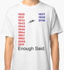 Enough Said (Baseball Edition) Classic T-Shirt
