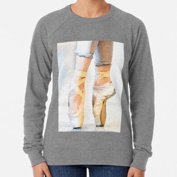 Ballerina En Pointe: a Ballet Dancer Watercolor Print Lightweight Sweatshirt