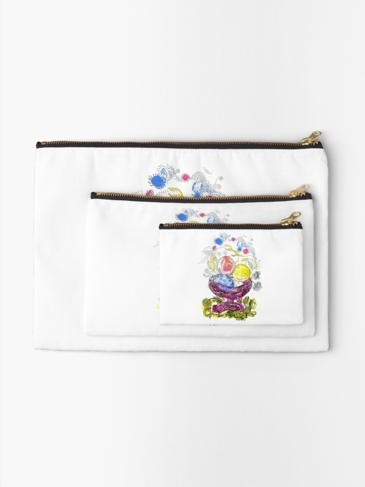 Alternate view of Ice Cream Zipper Pouch