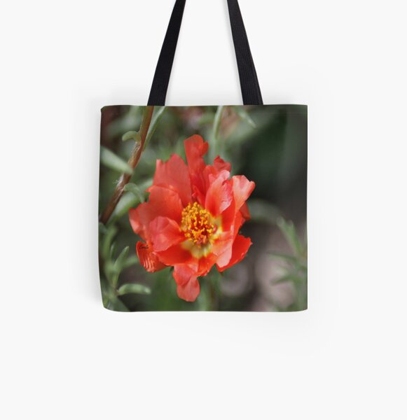 Moss Rose Bloom All Over Print Tote Bag