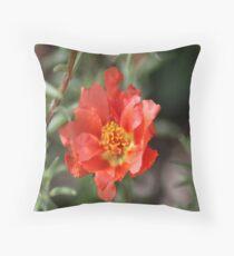 Moss Rose Bloom Throw Pillow