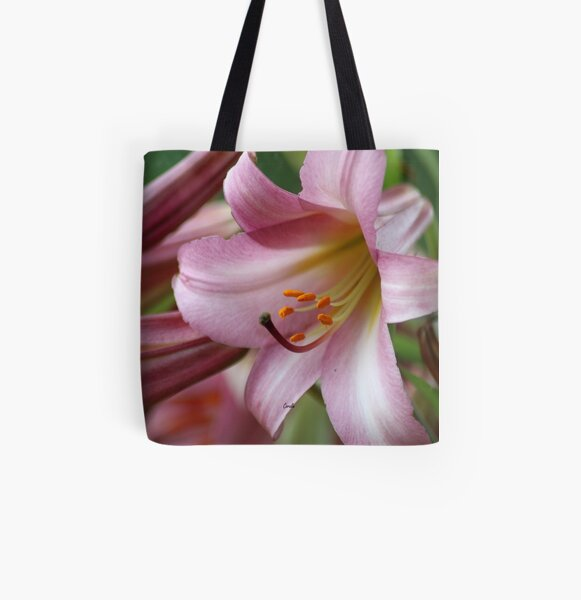 Colors of the Lily Bloom All Over Print Tote Bag