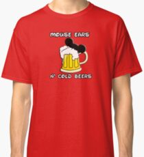 Mouse Ears N' Cold Beers Classic T-Shirt