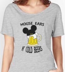 Mouse Ears N' Cold Beers (Epcot version) Women's Relaxed Fit T-Shirt