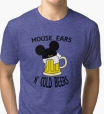 Mouse Ears N' Cold Beers (Epcot version) Tri-blend T-Shirt
