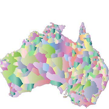 Pascaled Australia Map by emilybieman