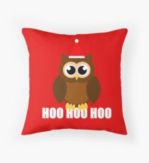 A Very Hooty Christmas Throw Pillow