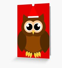 A Very Hooty Christmas (no text) Greeting Card