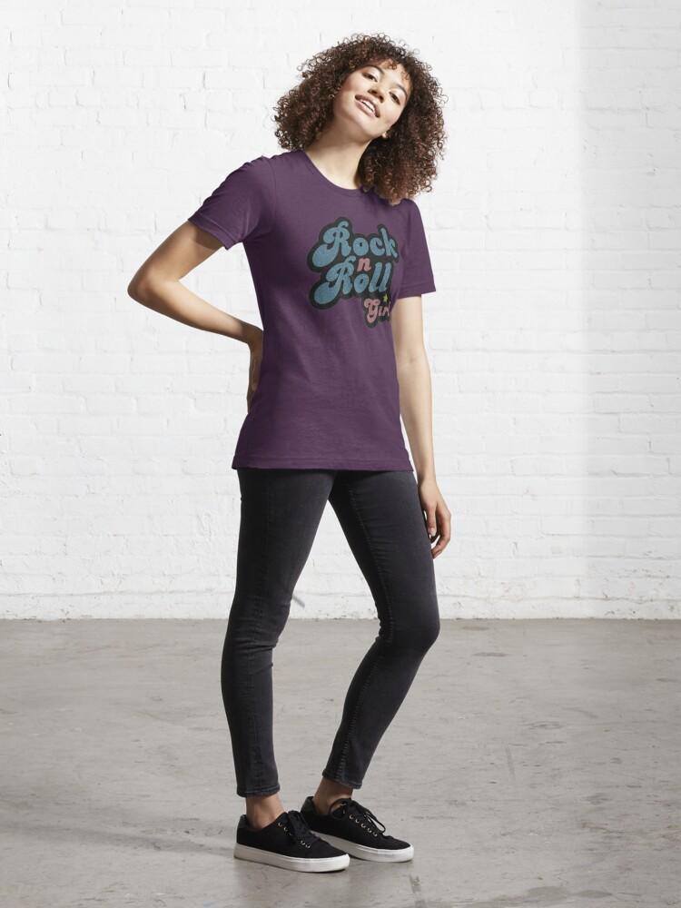 Alternate view of Darla Rock n Roll Girl Essential T-Shirt