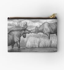 Two Moose Pair Off Studio Pouch