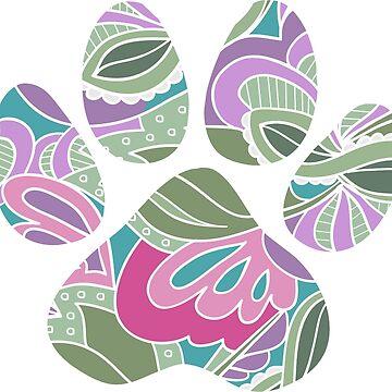 Floral Garden Dog Paw by NestToNest