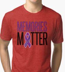 Alzheimer's Awareness Memories Matter Tri-blend T-Shirt