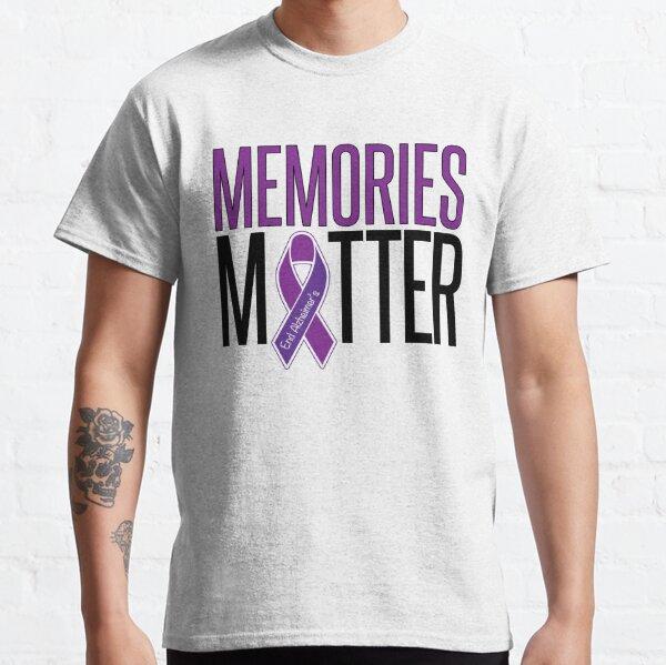 Alzheimer/'s Awareness Shirt Cancer Awareness Purple Ribbon Memories T Shirt